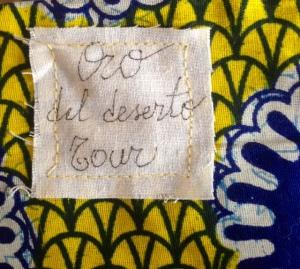 Etichetta Oro del deserto tour