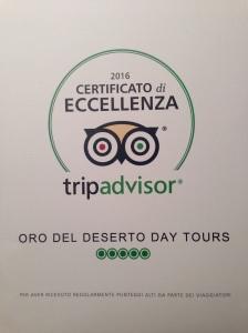 Il certificato di eccellenza di TripAdvisor